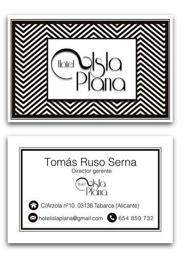 tarjetas de presentacion de hoteles blanco y negro
