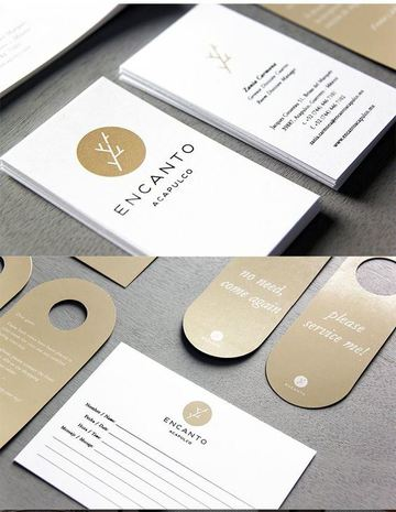 tarjetas de presentacion de hoteles elegantes
