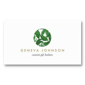 tarjetas de presentacion de jardinero blancas