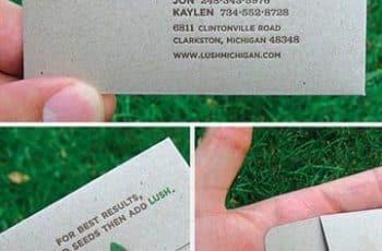 tarjetas de presentacion de jardinero originales