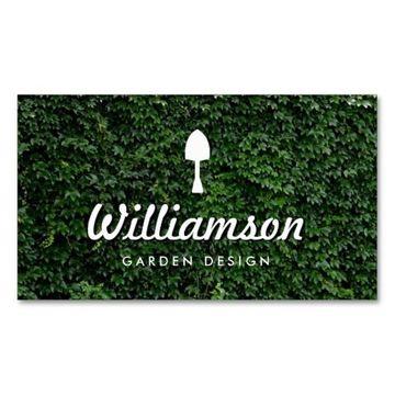 tarjetas de presentacion de jardinero sencillas