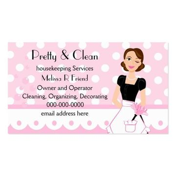 tarjetas de presentacion de limpieza de casas