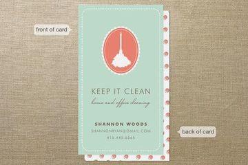 tarjetas de presentacion de limpieza doble cara
