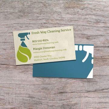 tarjetas de presentacion de limpieza empresa
