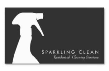 tarjetas de presentacion de limpieza sencilla
