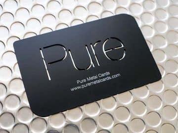 tarjetas de presentacion plasticas en negro