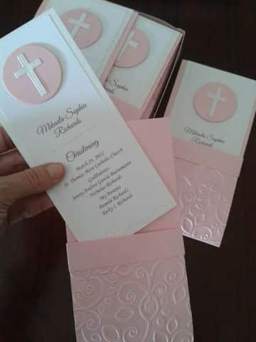 tarjetas para primera comunion con sobre repujado