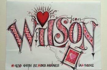 como decorar una carta de amor a mano