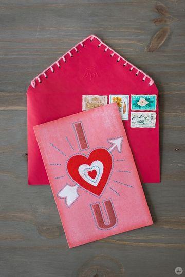 como decorar una carta de amor para san valentin