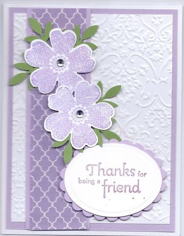 como hacer tarjetas de amistad en lila