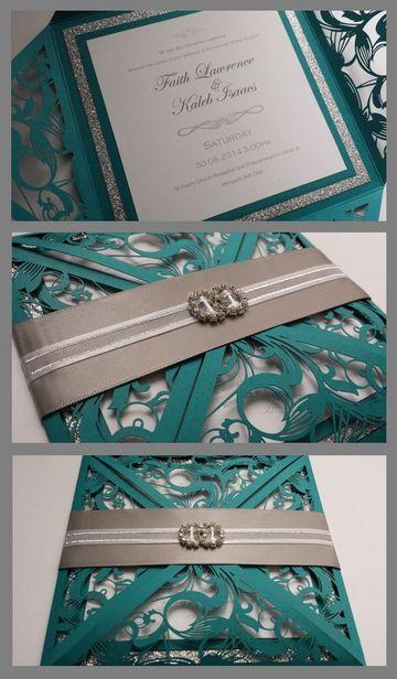 diseño de invitaciones para boda en turquesa