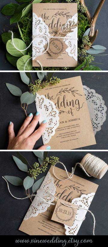 diseño de invitaciones para boda estilo shabby chic