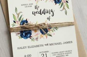 diseño de invitaciones para boda vintage