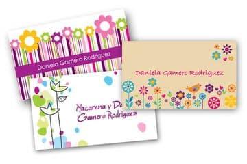 diseños para tarjetas personales de niñas