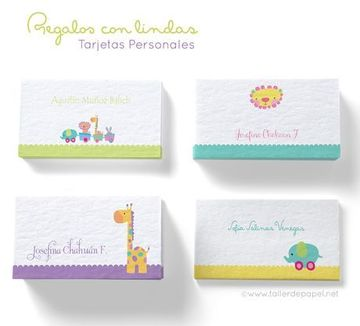 diseños para tarjetas personales de niños