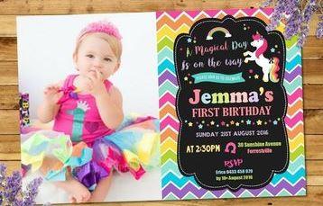 invitaciones para cumpleaños infantiles con foto