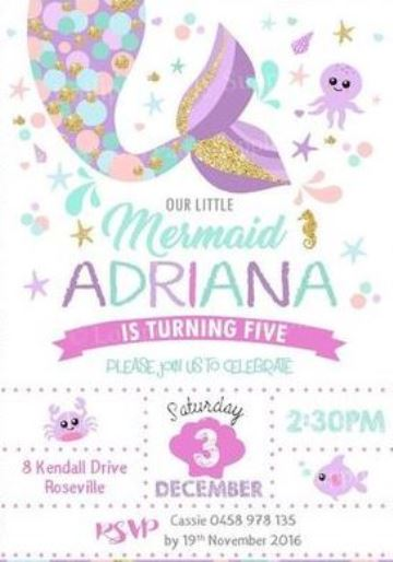 invitaciones para cumpleaños infantiles para niñas