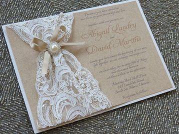 lazos para tarjetas de boda con blonda