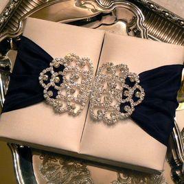 lazos para tarjetas de boda elegantes
