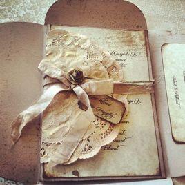 lazos para tarjetas de boda vintage