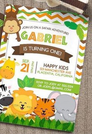 letras para invitaciones infantiles clasicas