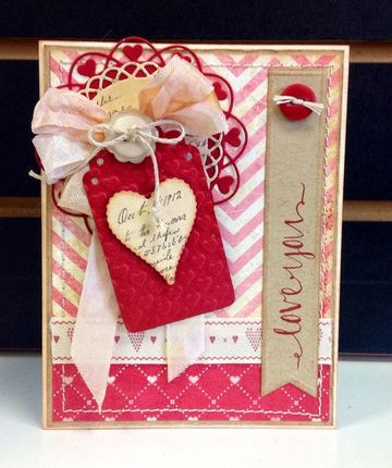 modelos de tarjetas de amor decorada