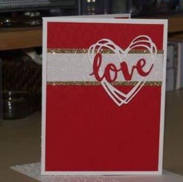 modelos de tarjetas de amor roja