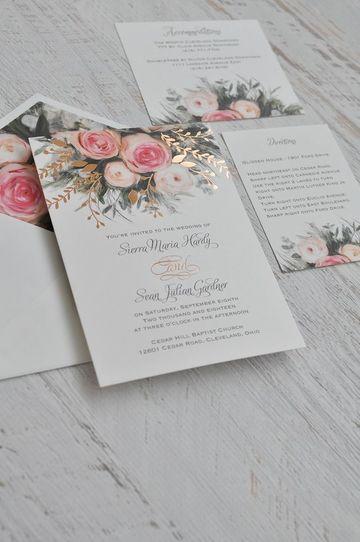 papel para tarjetas de invitacion impreso