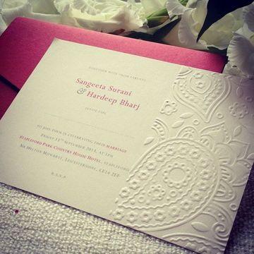 papel para tarjetas de invitacion repujado