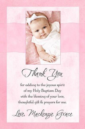 tarjetas de agradecimiento de bautizo de niña