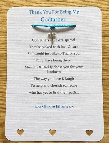 tarjetas de agradecimiento de bautizo para padrino