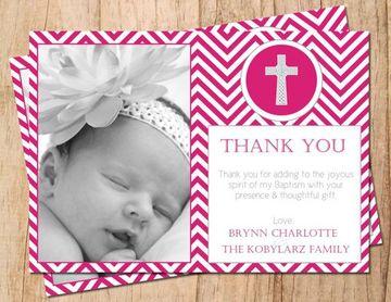 tarjetas de agradecimiento de bautizo virtual