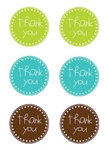 tarjetas de agradecimiento gratis para recuerdos