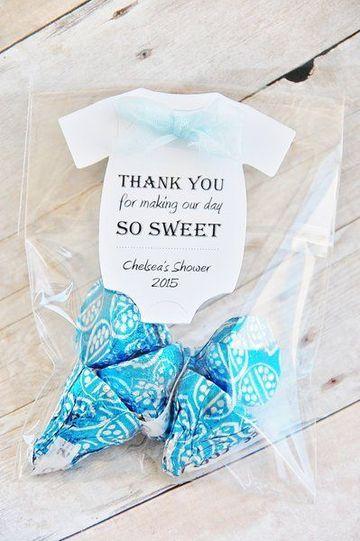 tarjetas de agradecimiento para baby shower con bombones