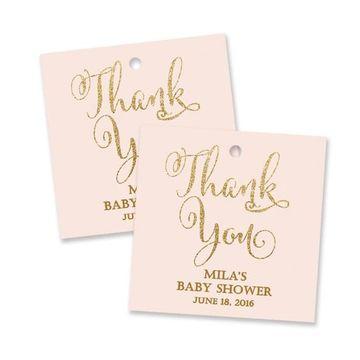 tarjetas de agradecimiento para baby shower de niña