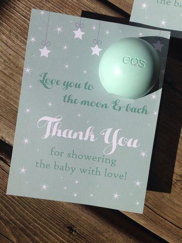 tarjetas de agradecimiento para baby shower de niño