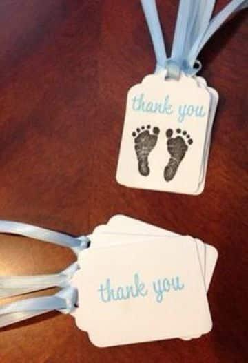 tarjetas de agradecimiento para baby shower sencillas