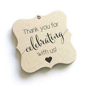 tarjetas de agradecimiento para bodas sencilla