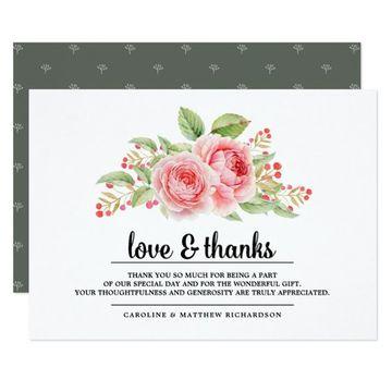 tarjetas de agradecimiento para bodas vintage