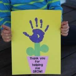 tarjetas de agradecimiento para profesores hecha a mano