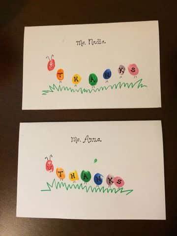 tarjetas de agradecimiento para profesores sencillas