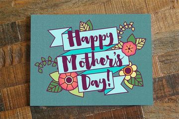 tarjetas de feliz dia de las madres con linda caligrafia
