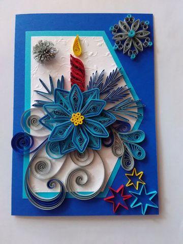 tarjetas de navidad en filigrana de colores