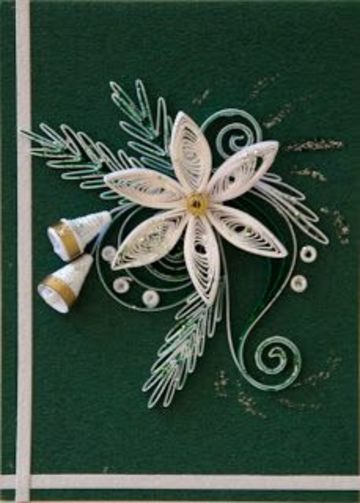 tarjetas de navidad en filigrana de flores