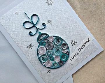 tarjetas de navidad en filigrana sencilla