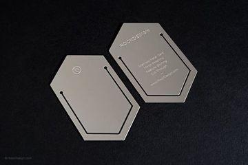 tarjetas de presentacion metalizadas tipo marcalibros
