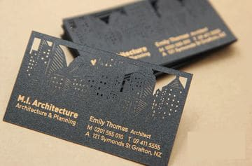 tarjetas de visita troqueladas e impresas