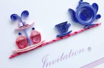 tarjetas en filigrana de papel de invitación