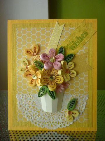tarjetas en filigrana de papel para felicitar