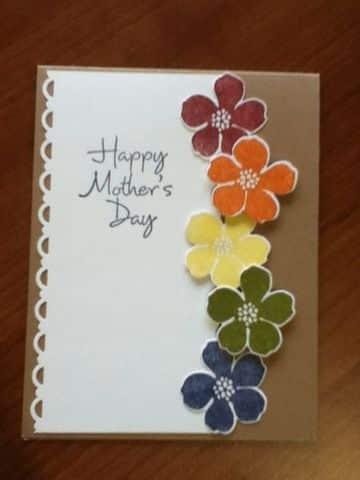 tarjetas para las madres en su dia hecha a mano